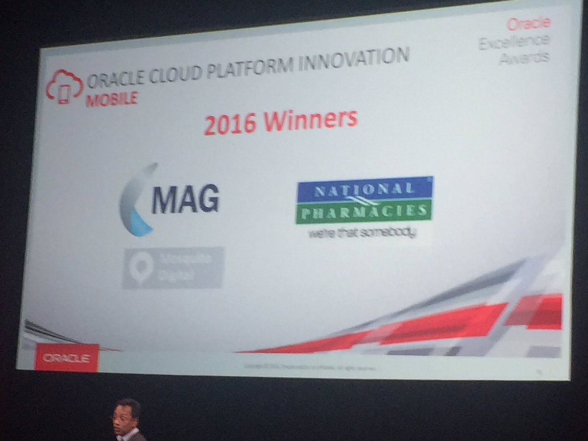 oracle excellence award win 2016 - using Oracle cloud platform innovation
