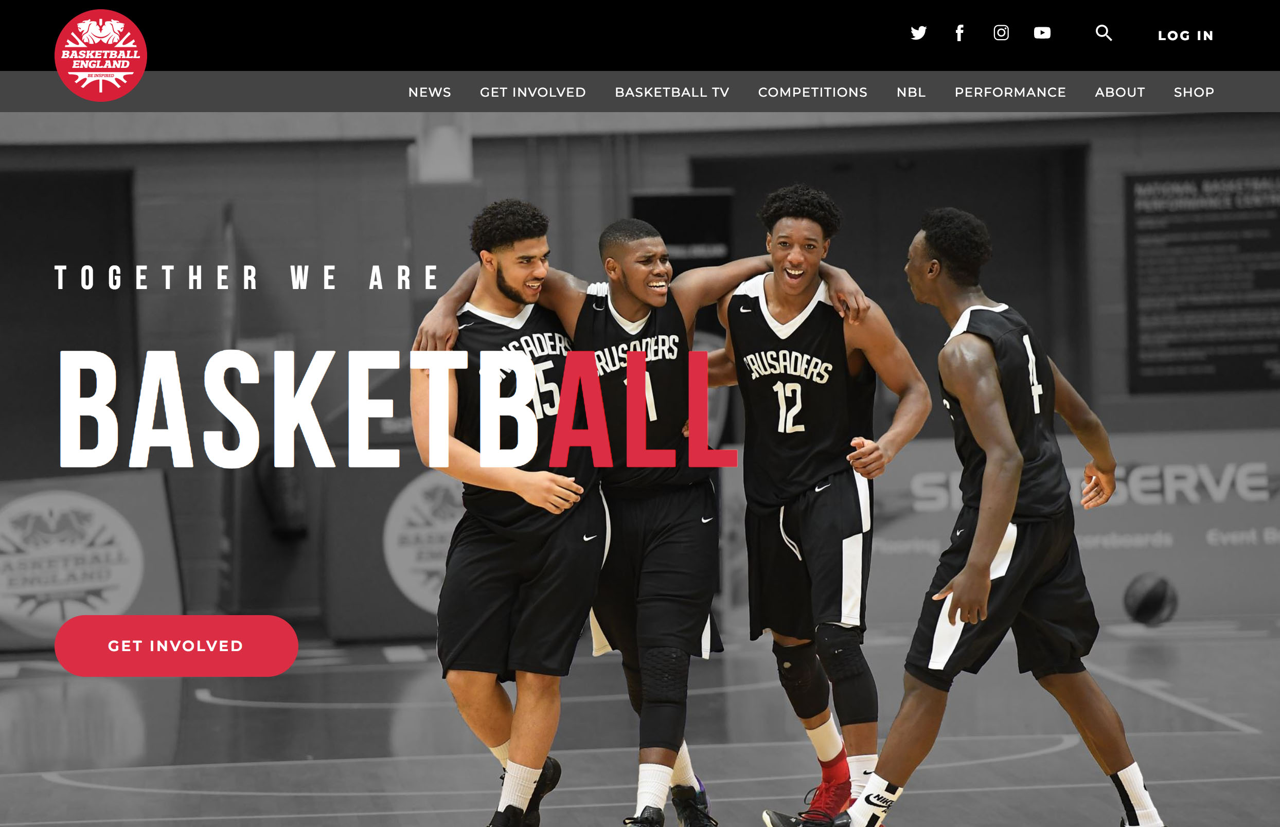 Basketball England new brand website